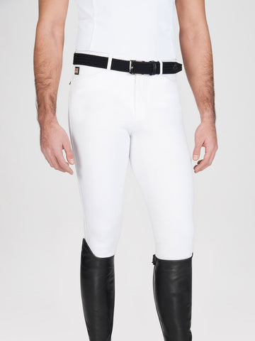 Equiline Men's Willow Knee Grip Breech White-Breeches - Mens - Knee Patch-Equiline-44-Manhattan Saddlery