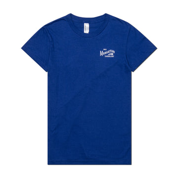 Manhattan Saddlery Classic Ladies' T-Shirt Blue Ribbon-Shirts-Manhattan Saddlery House Label-S-Blue Ribbon-Manhattan Saddlery