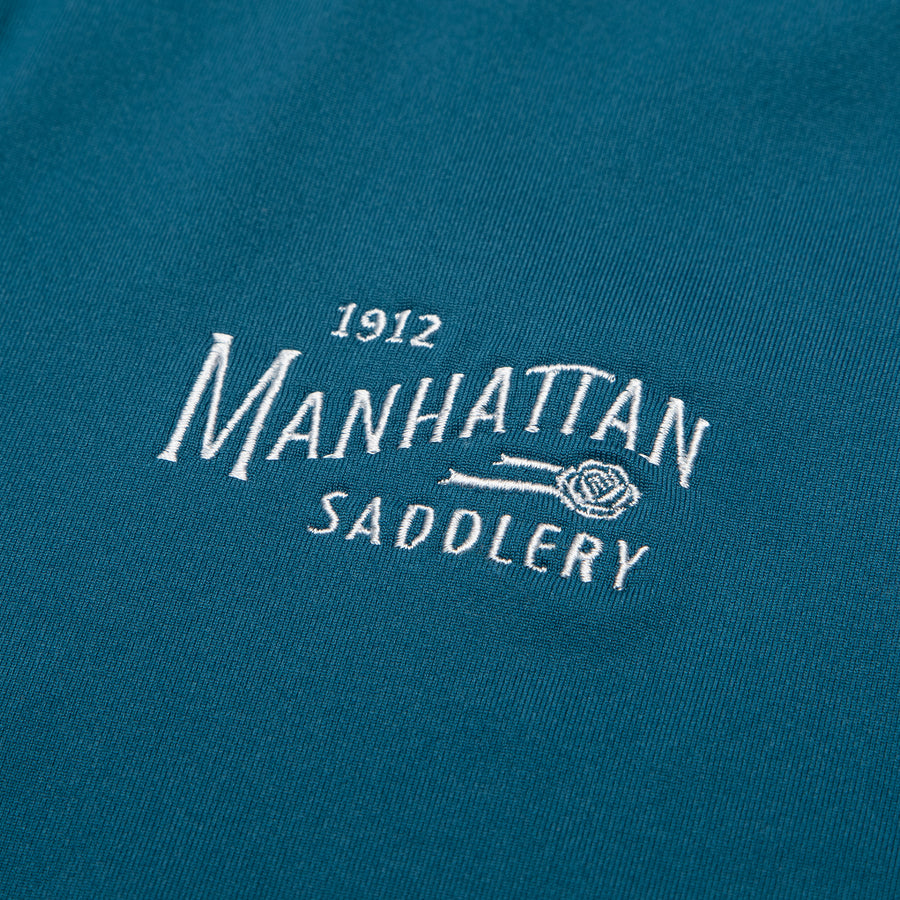 Manhattan Saddlery Belvedere Baselayer Blue Ribbon-Shirts-Manhattan Saddlery House Label-XXS-Blue-Manhattan Saddlery