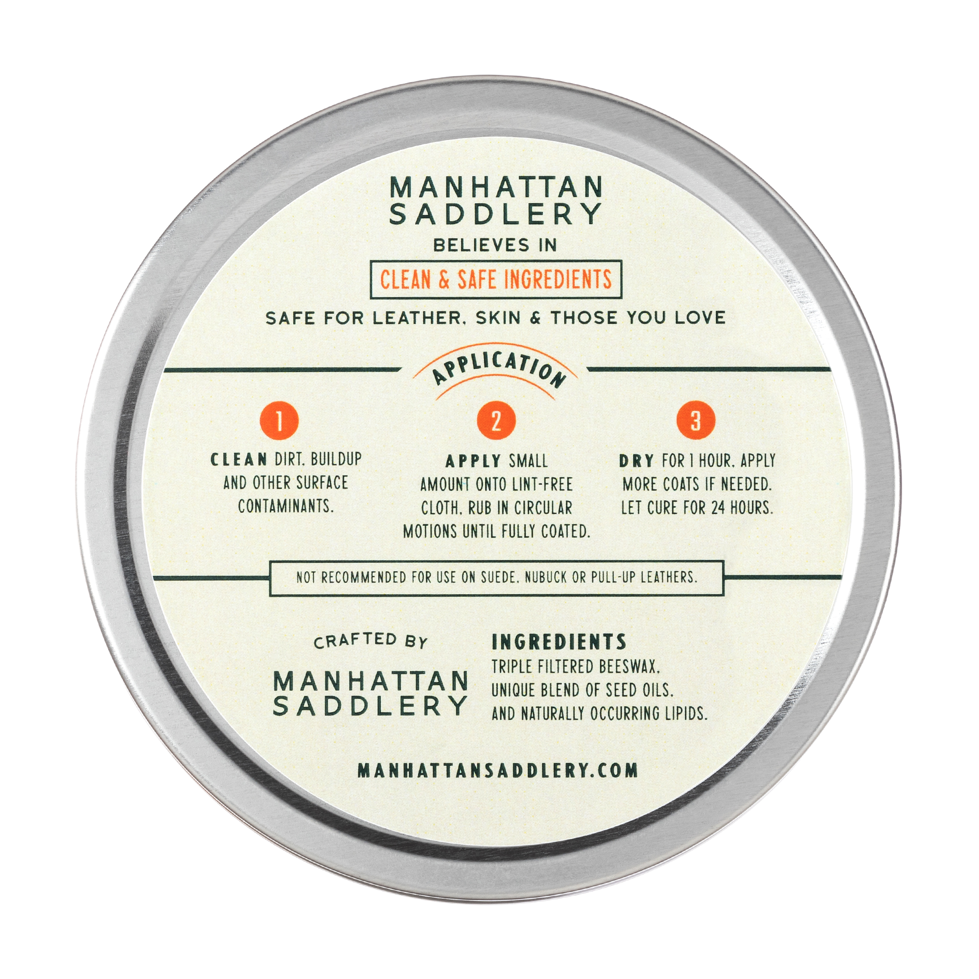 Leather Cream-Leather Care-Manhattan Saddlery House Label-Manhattan Saddlery