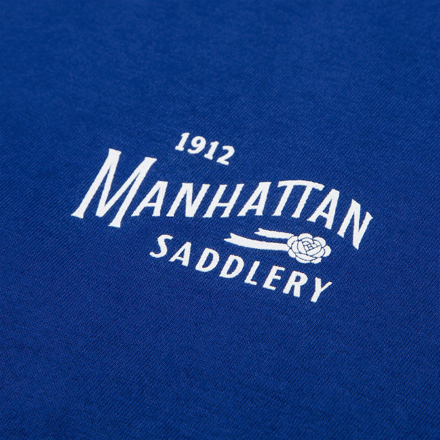 Manhattan Saddlery Classic Ladies' T-Shirt Blue Ribbon-Shirts-Manhattan Saddlery House Label-XS-Black-Manhattan Saddlery