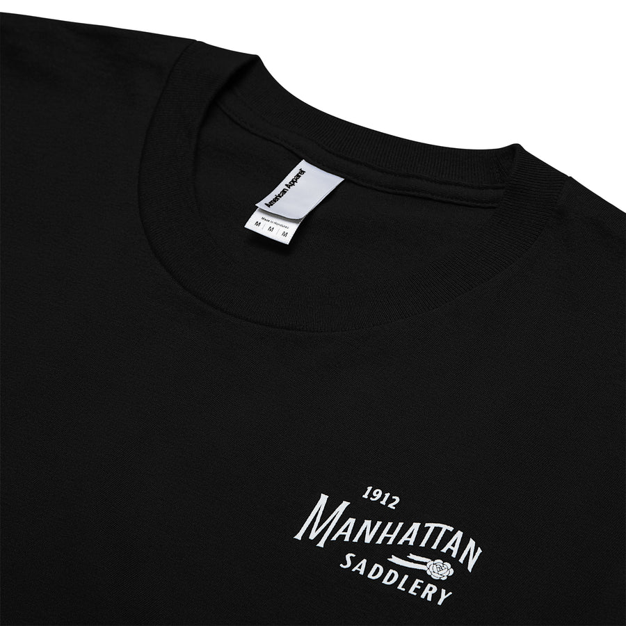 Manhattan Saddlery Classic Ladies' T-Shirt Black-Shirts-Manhattan Saddlery House Label-XS-Black-Manhattan Saddlery