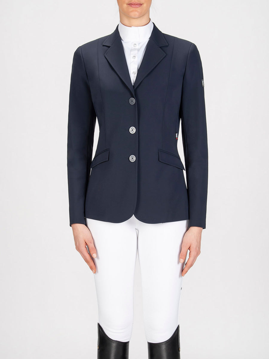 Equiline Hayley Hunter Show Coat Navy-Show Coats - Ladies Show Coats-Equiline-36-Manhattan Saddlery