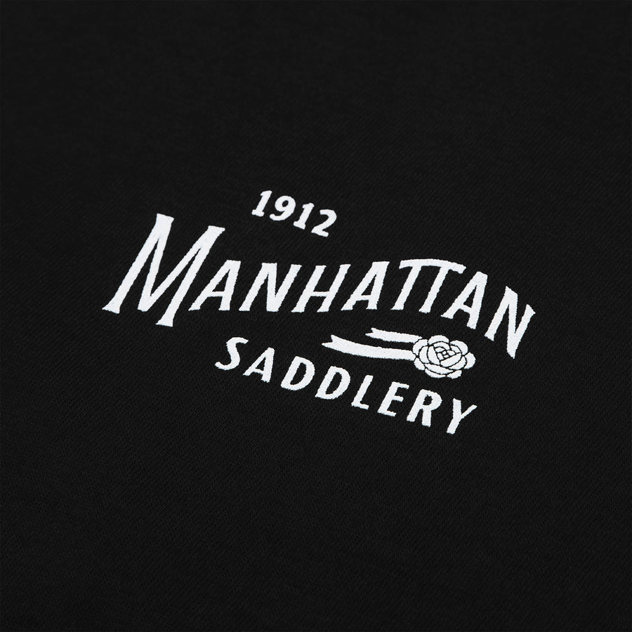 Manhattan Saddlery Classic Men's T-Shirt Black-Shirts-Manhattan Saddlery House Label-XS-Black-Manhattan Saddlery