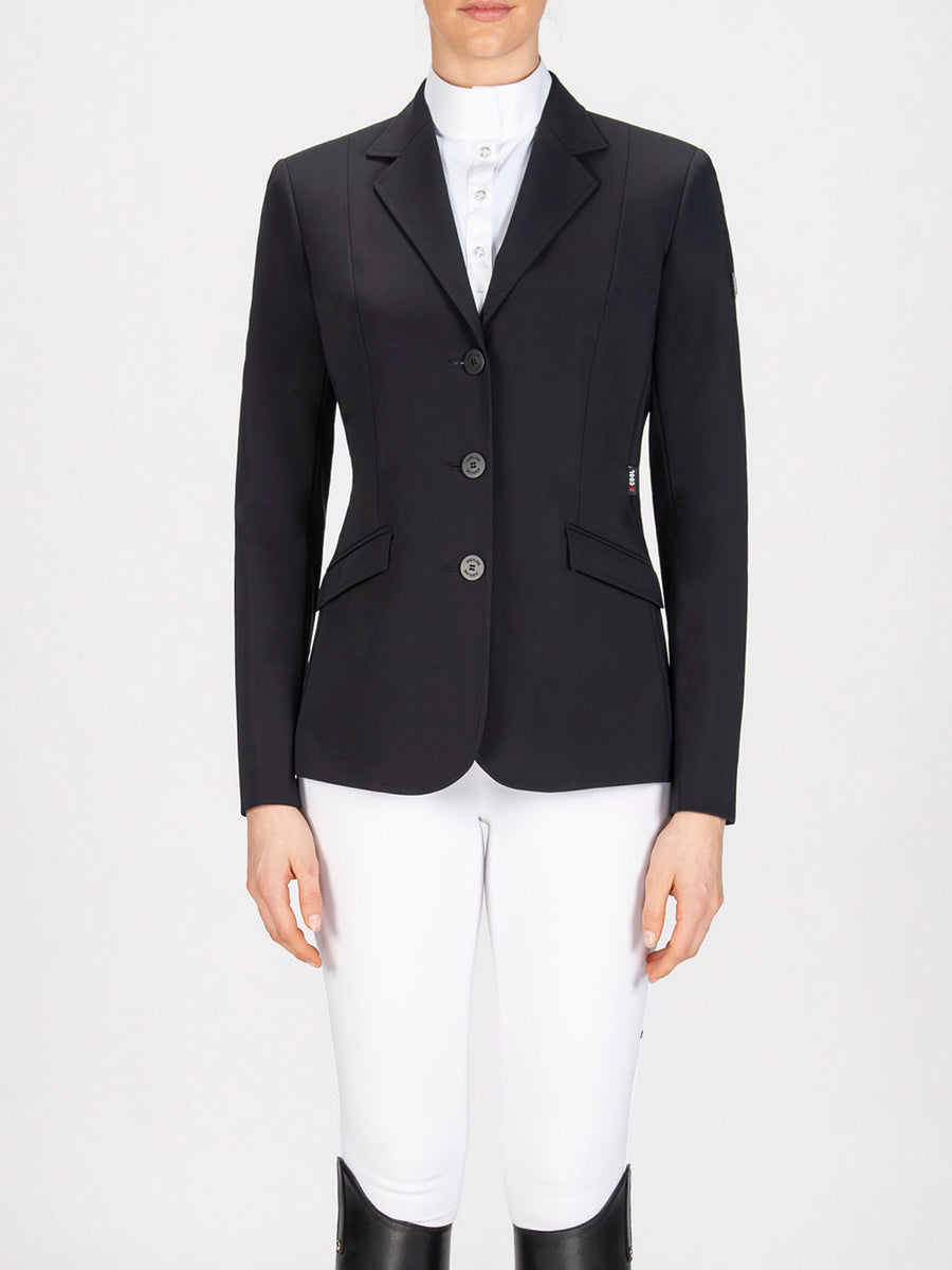 Equiline Hayley Hunter Show Coat Black-Show Coats - Ladies Show Coats-Equiline-36-Manhattan Saddlery