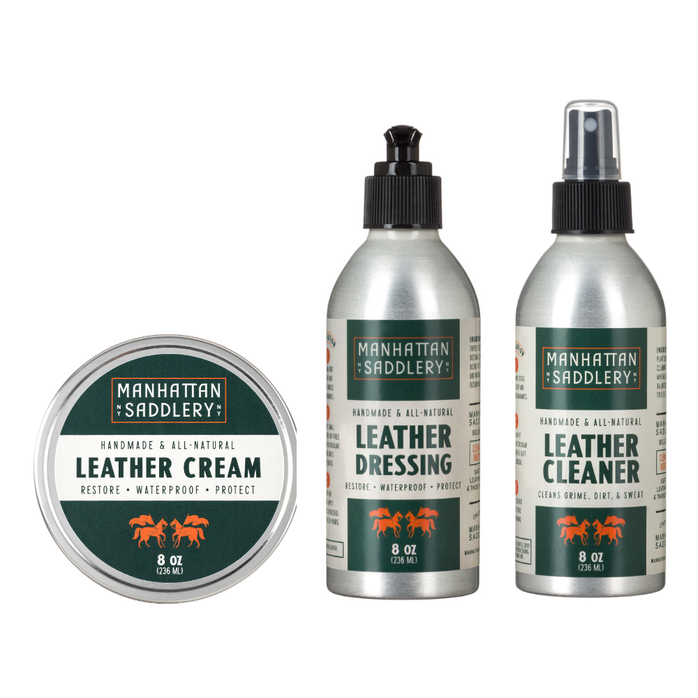 Leather Care Trio-Leather Care-Manhattan Saddlery House Label-Manhattan Saddlery