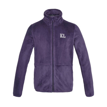 Kingsland Dane Junior Coral Fleece Jacket-Sportswear - Kids - Jackets-Kingsland-Lilac Nightshade-S-Manhattan Saddlery