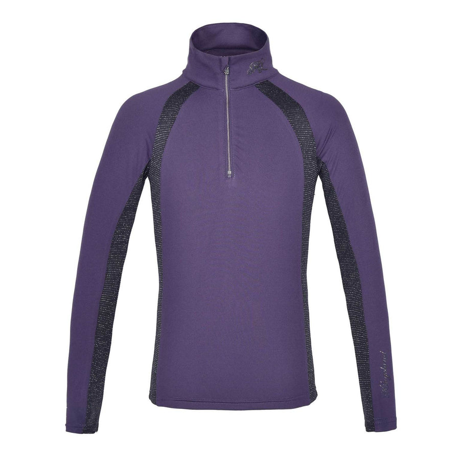 Kingsland Dianne Junior Training Shirt-Sportswear - Kids - Tops-Kingsland-Lilac Nightshade-M-Manhattan Saddlery