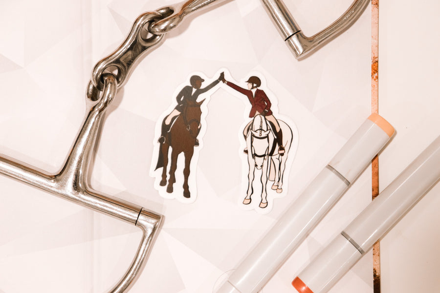 Equestrians Unite Sticker-Gifts - Stationary-The Positive Equestrian-Manhattan Saddlery