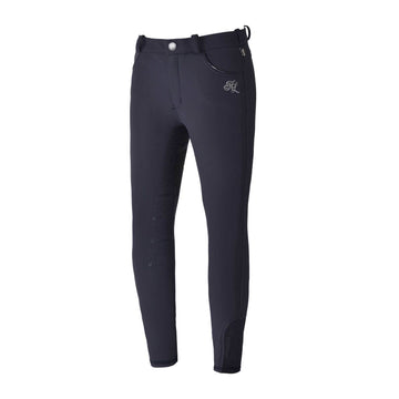 Kingland Girl's Kasmira E-Tec Breeches-Breeches - Kids - Knee Patch-Kingsland-Navy-S-Manhattan Saddlery
