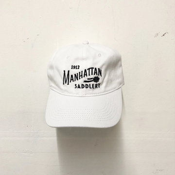 Manhattan Saddlery Ringside Baseball Cap White-Hats-Manhattan Saddlery-White-Manhattan Saddlery