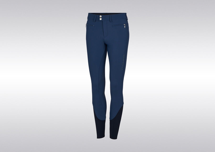 Samshield Adele Glitz Breech Petrol Blue-Breeches-Samshield-32-Petrol Blue-Manhattan Saddlery