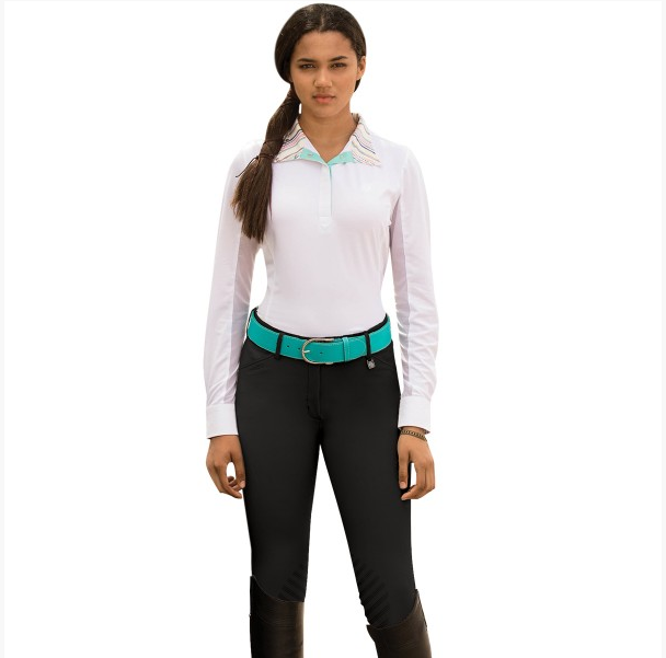 Romfh Sarafina Grip Breech-Breeches-Romfh-22R-Black-Manhattan Saddlery