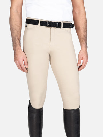 Equiline Men's Willow Knee Grip Breech Beige-Breeches - Mens - Knee Patch-Equiline-44-Manhattan Saddlery