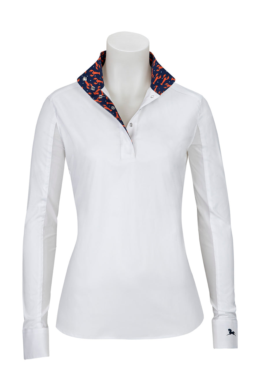 RJ Classics Ladies' Rebecca Show Shirt Lobsters-Show Shirts - Ladies Show Shirt-RJ Classics-Lobsters-S-Manhattan Saddlery