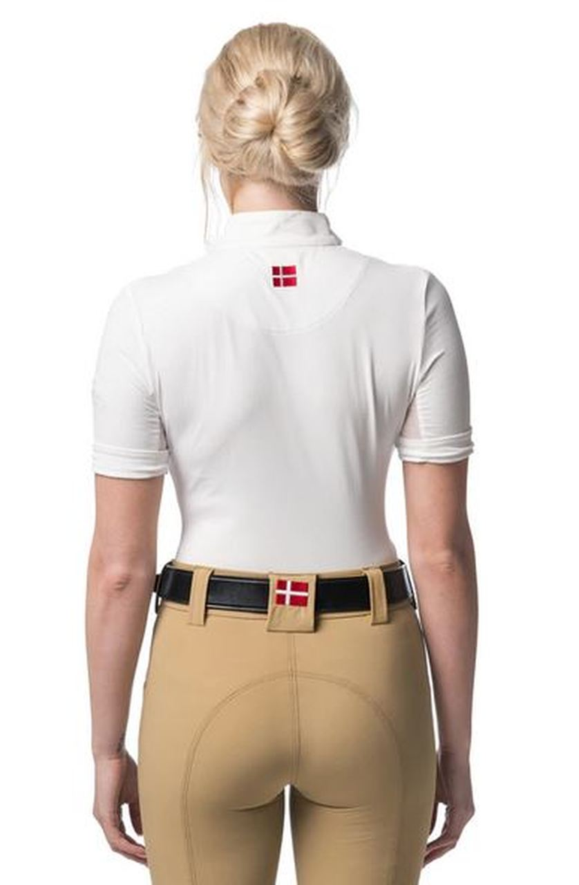 Kastel Charlotte Short Sleeve Sun Shirt-Tops-Kastel Denmark-XS-White-Manhattan Saddlery