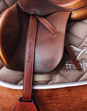 Classic Wide Leathers-Stirrup Leathers-Freejump-Medium-Manhattan Saddlery