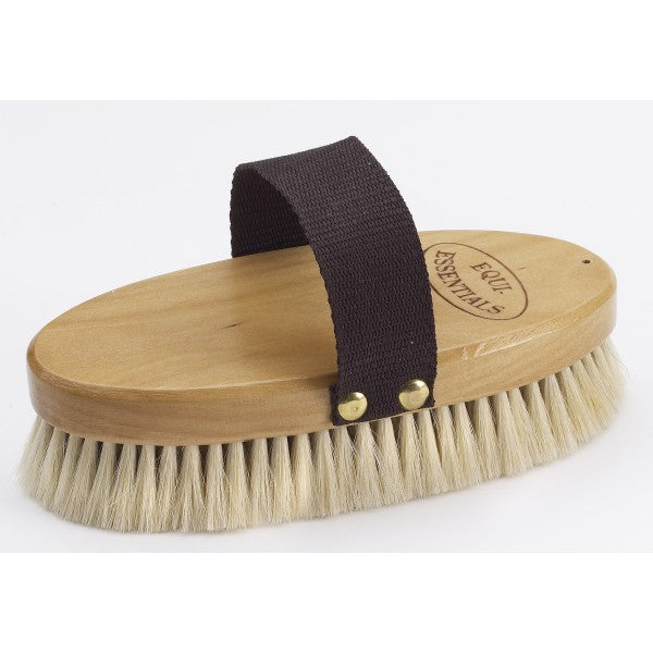Wood Back Goat Hair Body Brush-Staple Supplies - Grooming-Equi-Essentials-Manhattan Saddlery