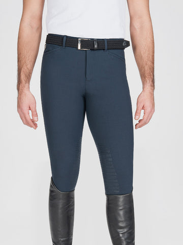 Equiline Men's Willow Knee Grip Breech Navy-Breeches - Mens - Knee Patch-Equiline-44-Manhattan Saddlery