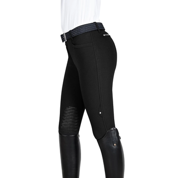 Equiline Ash Knee-Patch Breech Black-Default-Equiline-38-Manhattan Saddlery