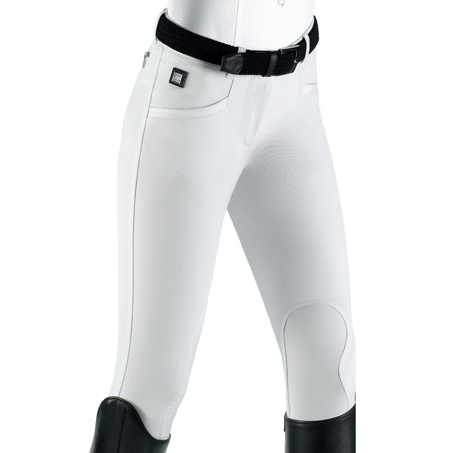 Equiline Ash Knee-Patch Breech White-Default-Equiline-38-Manhattan Saddlery