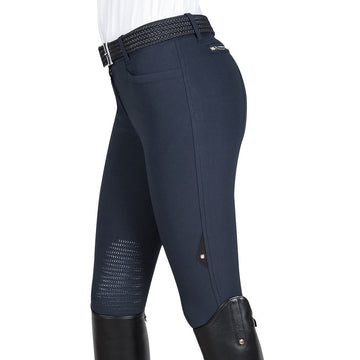 Equiline Ash Knee-Patch Breech Navy-Apparel-Equiline-38-Manhattan Saddlery
