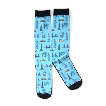 Manhattan Saddlery x Dreamers N Schemers Socks NYC Blue-Socks-Manhattan Saddlery House Label-NYC Blue-Manhattan Saddlery