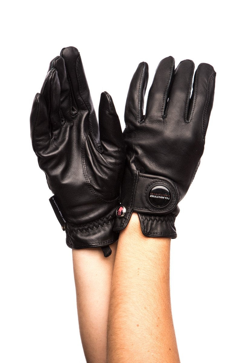 Haukeschmidt Finest Gloves Black-Gloves-Haukeschmidt-6-Black-Manhattan Saddlery