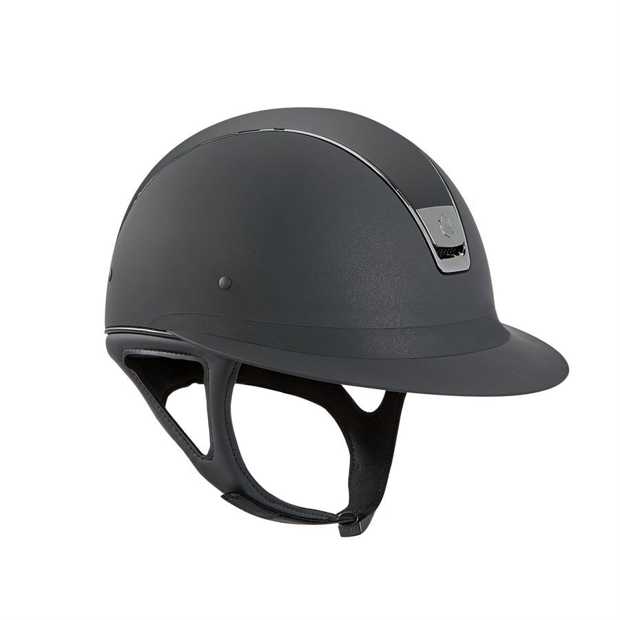 Miss Shield Shadowmatt Helmet-Helmets-Samshield-6 1/2-Black-Manhattan Saddlery