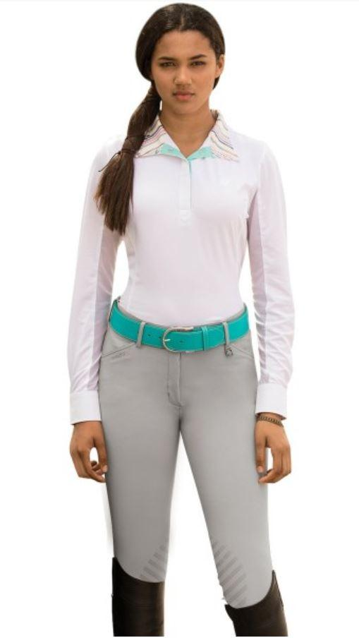 Sarafina Grip Breech-Breeches-Romfh-22R-Mist Grey-Manhattan Saddlery