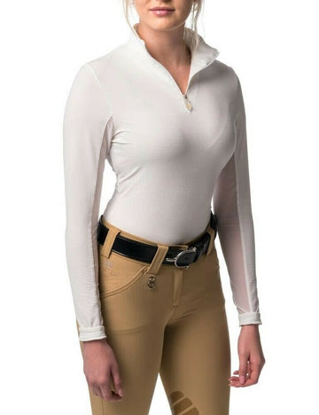 Kastel Charlotte Long Sleeve Sun Shirt White-Sportswear - Ladies - Tops-Kastel-L-Manhattan Saddlery
