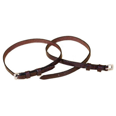 Tory Leather Deluxe Spur Straps with Double Keepers-Spur Straps-Tory Leather-Havana Brown-Manhattan Saddlery