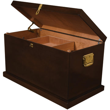 Value Tack Trunk-Tack Boxes-Horsefare-Extra Large-Old World Dark Walnut-Manhattan Saddlery