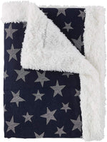 Reversible Sherpa Denim Star Blanket | Stephan Baby
