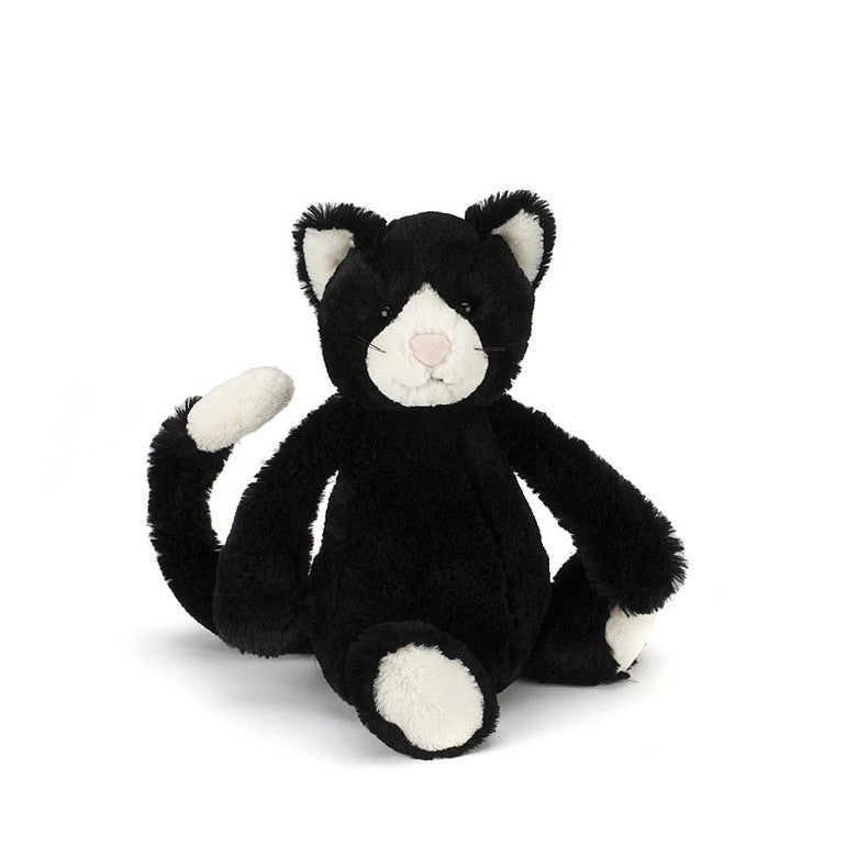 "Bashful Black & White Kitty - Medium (12"") 