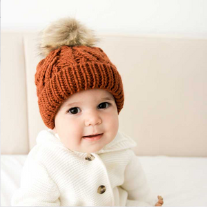 Pop Pom Pom Beanie (Various colors & sizes) | Huggalugs