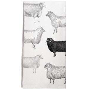Black sheep kitchen towel/Montgomery Street