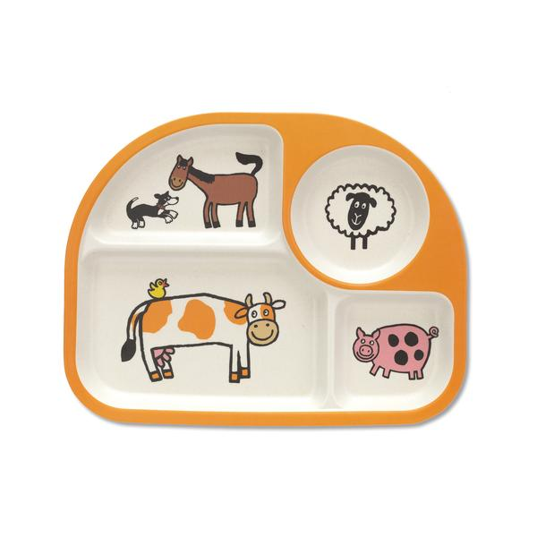 Farm Tails Bamboo Divided Plate | Jellycat
