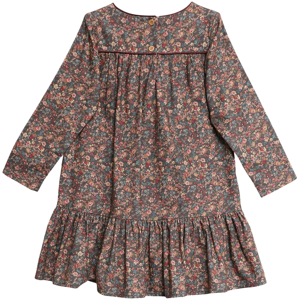 Dagmar Petroleum Flowers Dress | Wheat