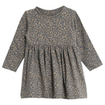 Greyblue Flowers Dress | Wheat