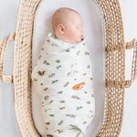 Organic Cotton Muslin Swaddles - Various Prints | Little Blue Nest