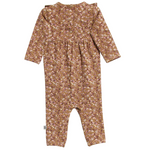 Kira Caramel Flowers Jumpsuit  | Wheat