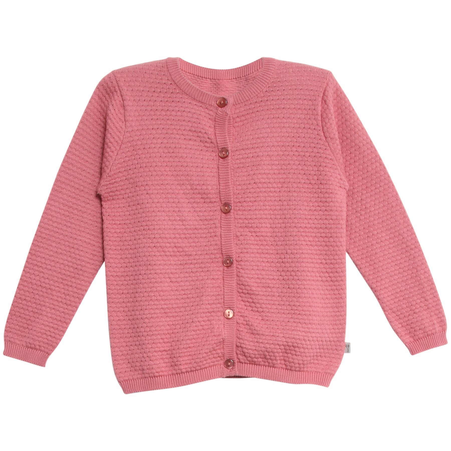Knit Cardigan Manuela Peach Rose | Wheat