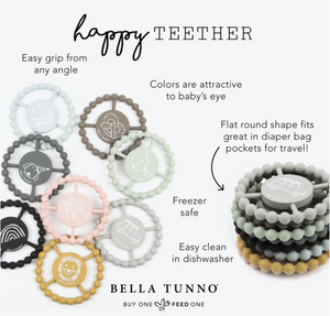 Happy Teether - Various Colors | Bella Tunno