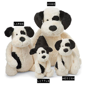 Bashful Black & Cream Puppy | Jellycat