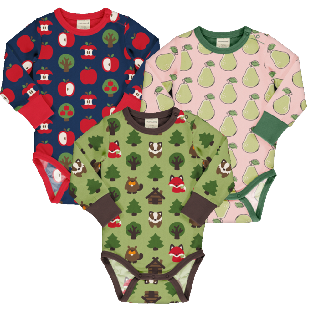 Long Sleeve Bodysuit - Various Prints | Maxomorra