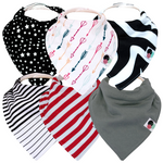 Premium Patterned Bandana Bibs - Various Patterns | Glossy Dots Baby