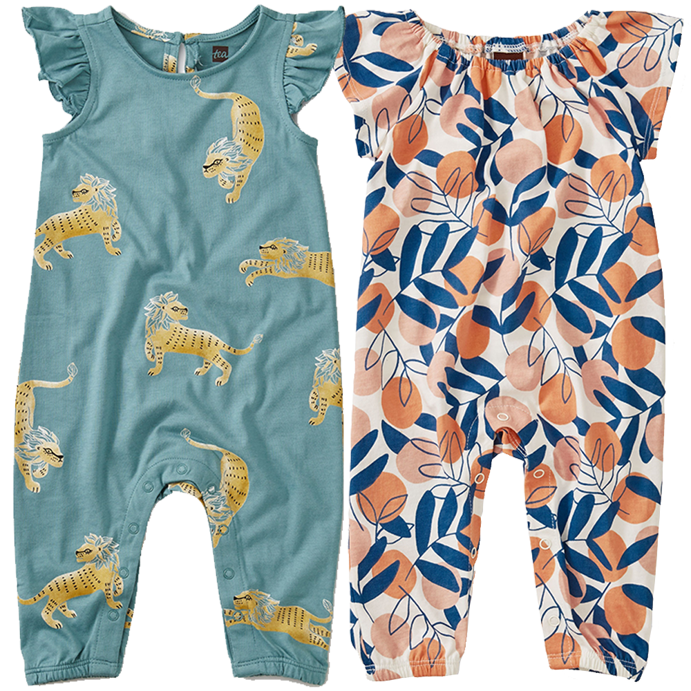 Ruffle Sleeve Romper - Various Prints | Tea Collection