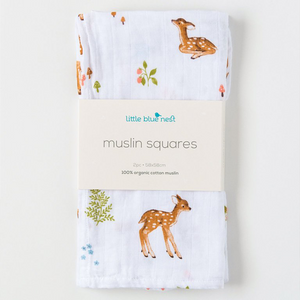 Organic Cotton Muslin Squares - Various Prints | Little Blue Nest