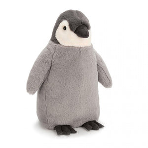 Jellycat Percy penguin small medium large huge best children's soft toys animals safe for babies popular plushies softest cuddle high quality comfort item suitable from birth London uk baby shower birthday gift pregnancy sweet grey emperor penguin shop local support small business